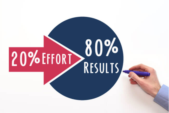 Obtenez plus avec moins d'efforts en appliquant le principe 80/20