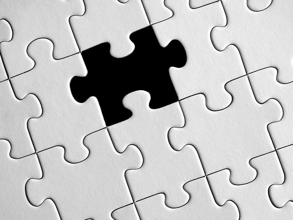 N'abandonnez pas et faites attention aux pièces du puzzle manquantes