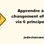 Apprendre à gérer le changement efficacement via 6 principes de base