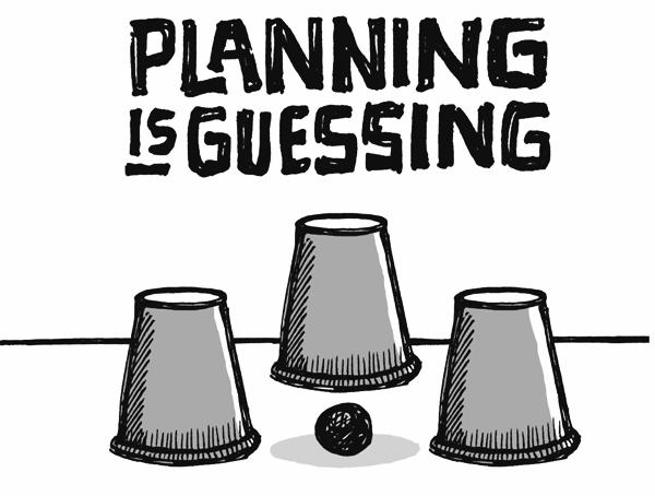 Planifier est l'art de deviner est une des grandes leçons que les entrepreneurs doivent tirer de ReWork