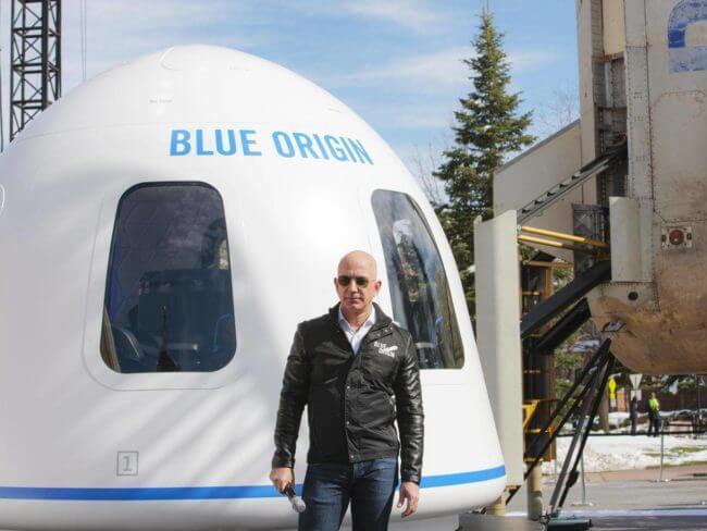 La société Blue Origin de Jeff Bezos symbole de l'absence de limites du monde selon Amazon